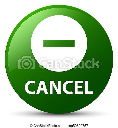 Cancel green round button - csp50690757