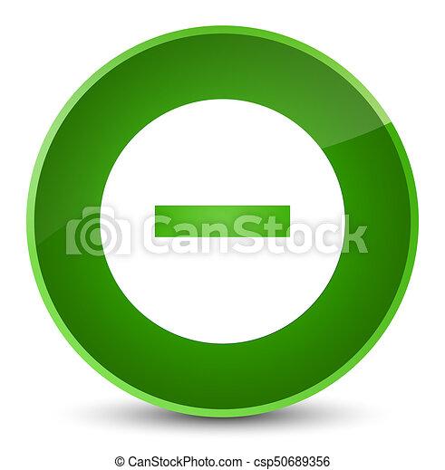 Cancel icon elegant green round button - csp50689356