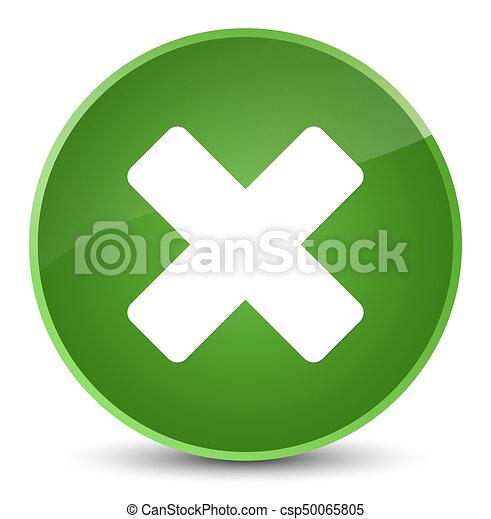 Cancel icon elegant soft green round button - csp50065805