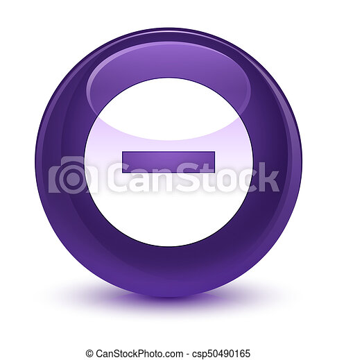 Cancel icon glassy purple round button - csp50490165