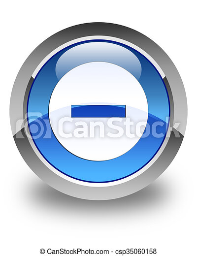 Cancel icon glossy blue round button 2 - csp35060158