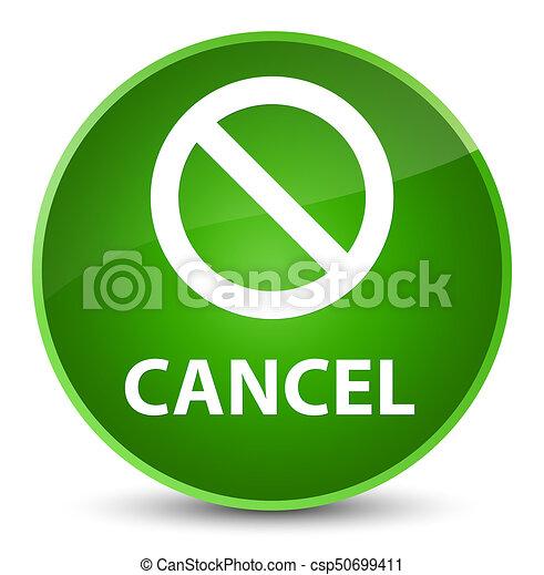 Cancel (prohibition sign icon) elegant green round button - csp50699411