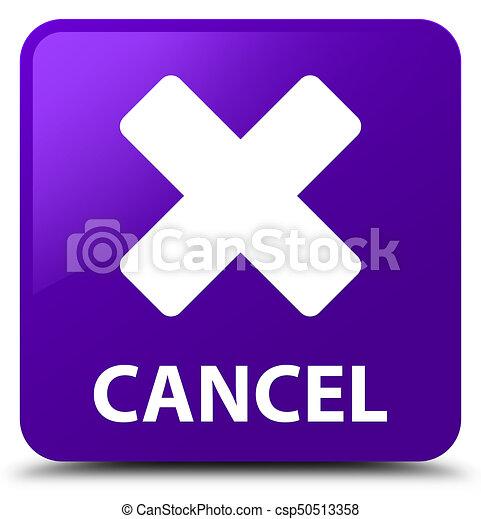 Cancel purple square button - csp50513358