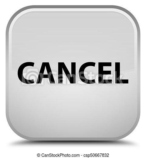Cancel special white square button - csp50667832