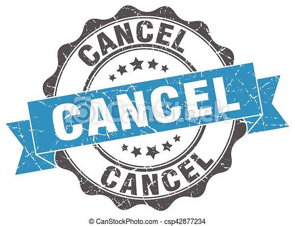 cancel stamp. sign. seal - csp42877234