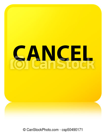 Cancel yellow square button - csp50490171