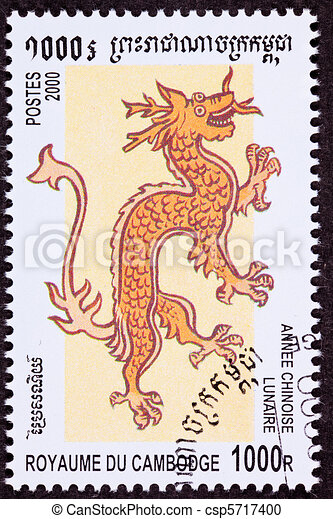 Canceled Cambodian Postage Chinese Year of the Dragon 2000 Series - csp5717400