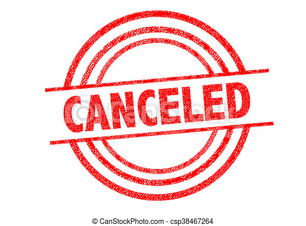 CANCELED Rubber Stamp - csp38467264