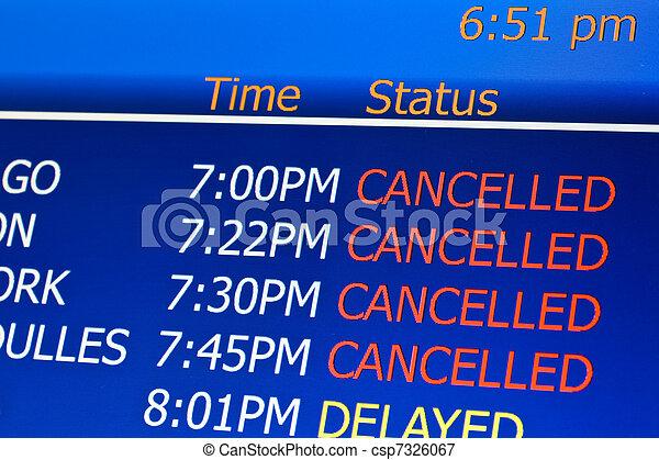 Cancelled flights - csp7326067