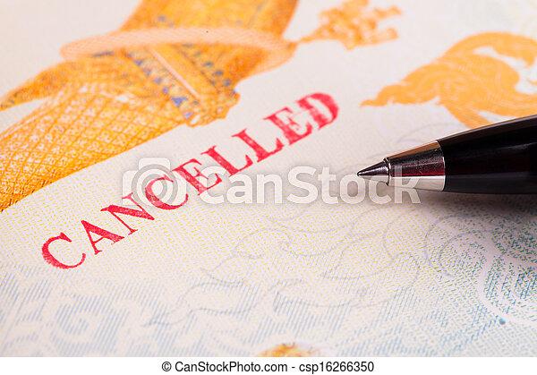 Cancelled Passport - csp16266350