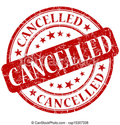 CANCELLED red stamp - csp15307338