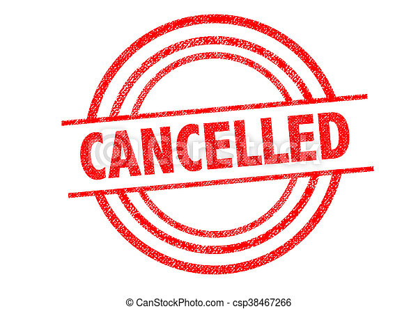 CANCELLED Rubber Stamp - csp38467266