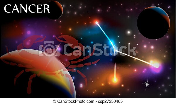 Cancer Astrological Sign and copy space - csp27250465