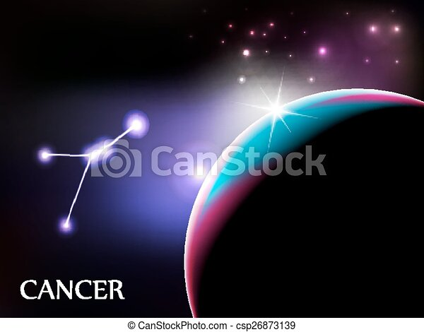 Cancer Astrological Sign and copy space - csp26873139