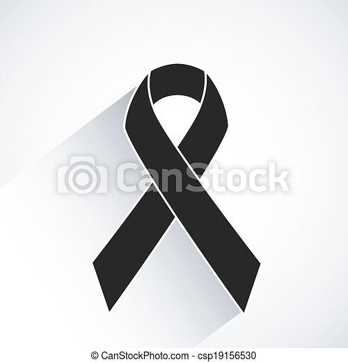 Cancer awareness ribbon vector - csp19156530