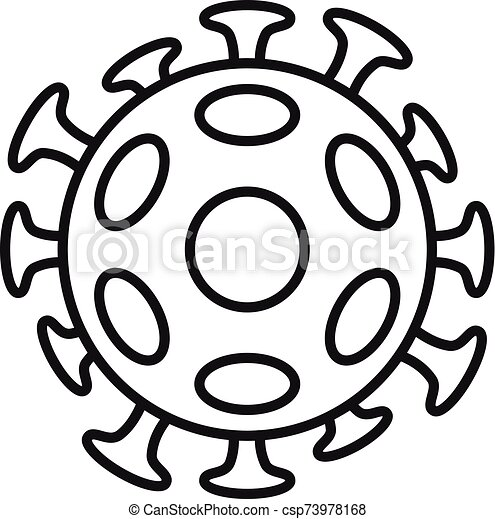 Cancer cell icon, outline style - csp73978168