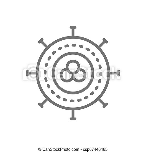 Cancer cell, virus, infection, oncology line icon. - csp67446465