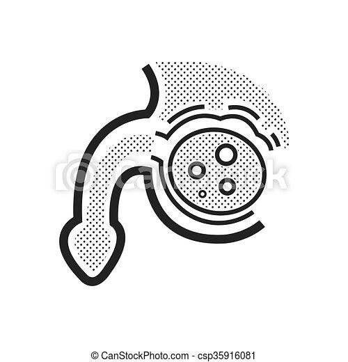 cancer prostate, icône - csp35916081