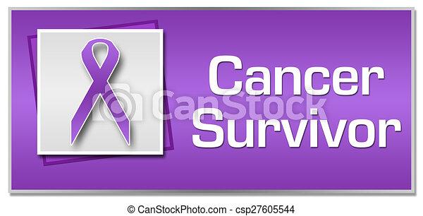 cancer survivor purple ribbon cancer survivor textual image with