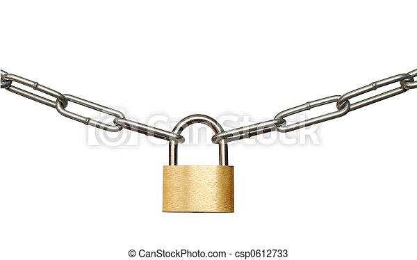 candado, cadena - csp0612733