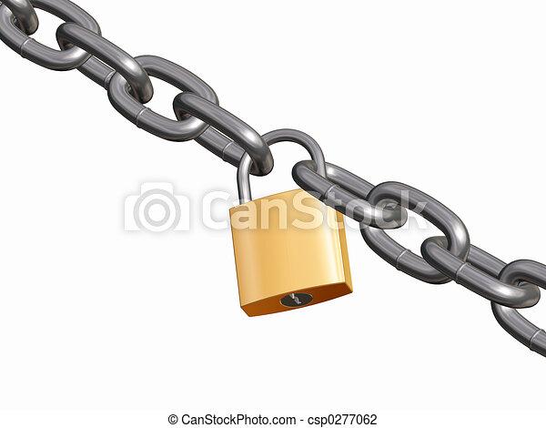 Padlock y cadena - csp0277062