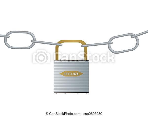 Esclusa y cadena - csp0693980