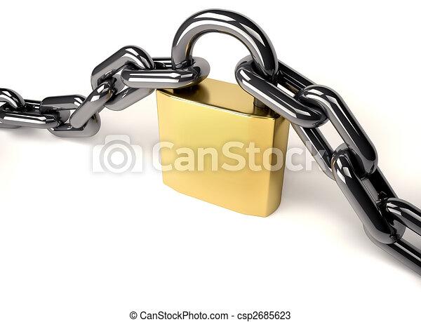 Esclusa y cadena - csp2685623