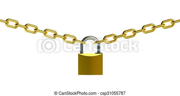 Esclusa y cadena - csp31055787