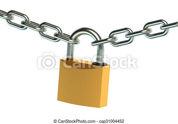 Esclusa y cadena - csp31004452