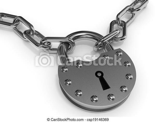 Esclusa y cadena. - csp19146369