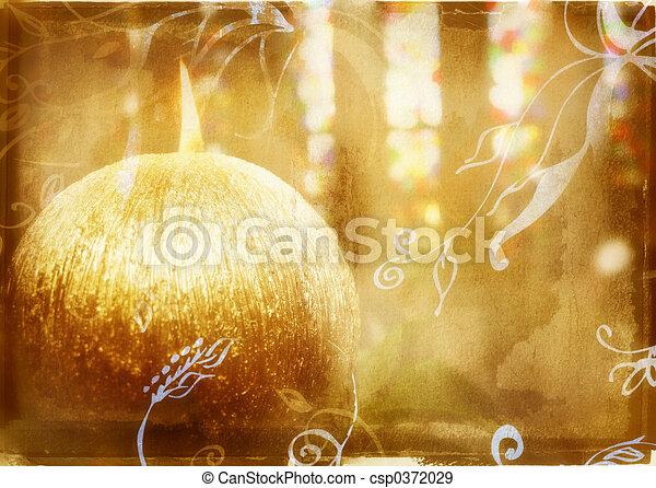 candela, grunge, urente - csp0372029