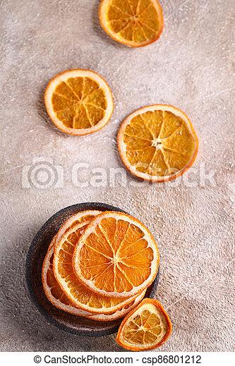 candied orange fruits for dessert and decoration - csp86801212