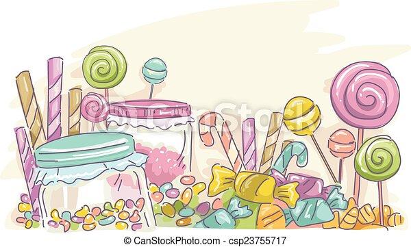Candies Sketch - csp23755717