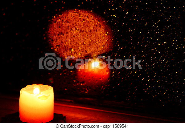 candle in the window - csp11569541