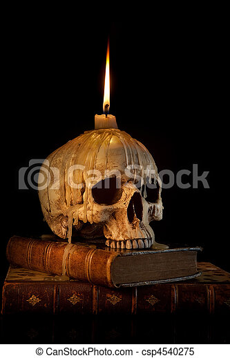 Candle on skull 1 - csp4540275