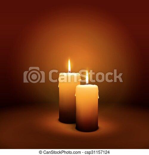 candlelight, advenimiento, -, 2, domingo, vela, socond - csp31157124
