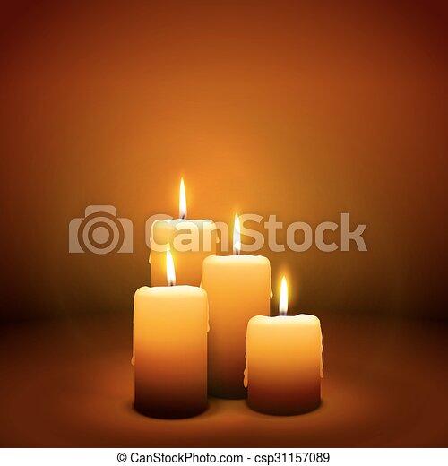 candlelight, advenimiento, -, domingo, 4, cuarto, vela - csp31157089