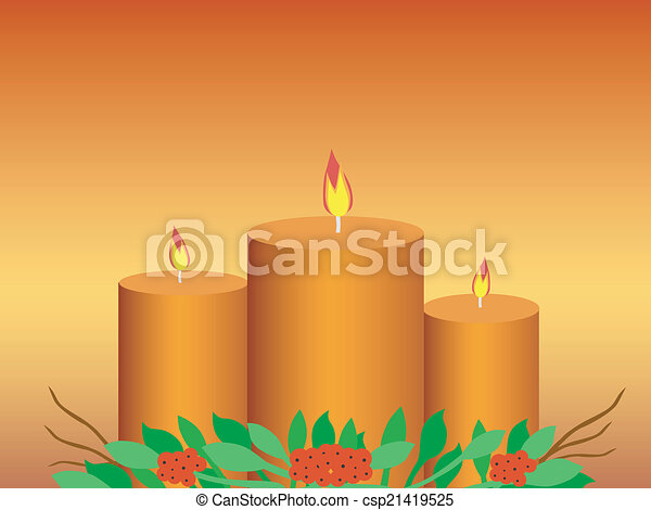 Candles background - csp21419525