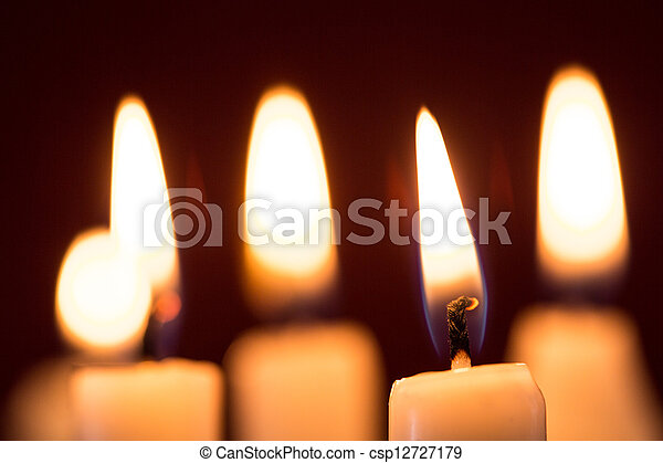 Candles in the dark - csp12727179