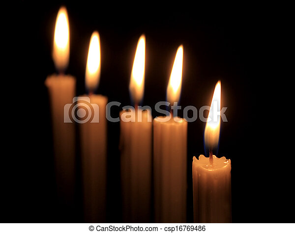 Candles in the dark - csp16769486