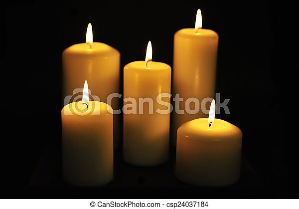 Candles in the Dark - csp24037184