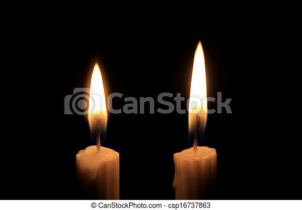 Candles in the dark - csp16737863