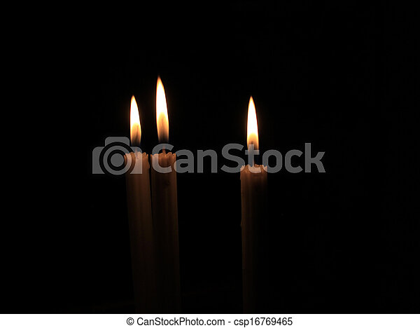 Candles in the dark - csp16769465