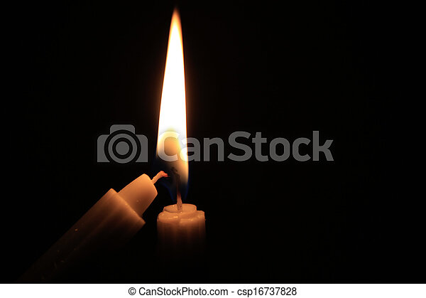 Candles in the dark - csp16737828