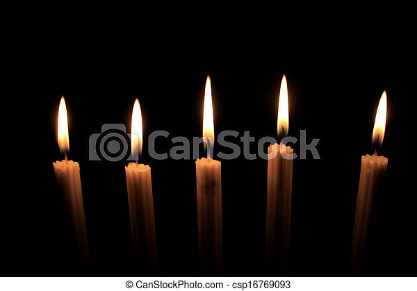 Candles in the dark - csp16769093