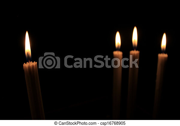 Candles in the dark - csp16768905