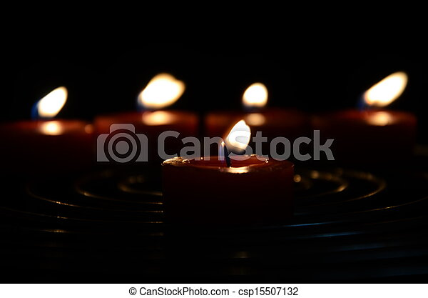 candles in the dark - csp15507132