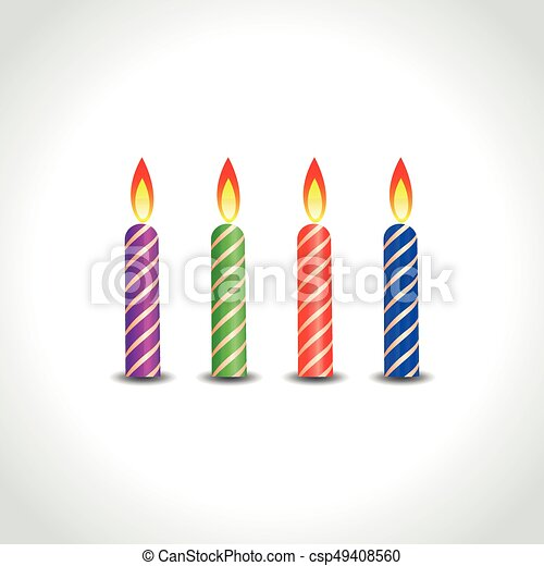 candles on white background - csp49408560