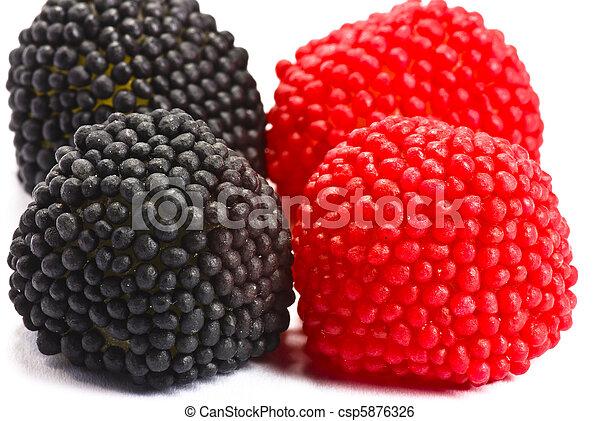 Candy blackberries - csp5876326