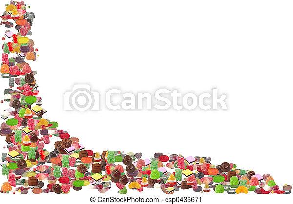 Candy Border - csp0436671